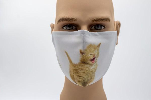 Kätzchen - Face Pad Premium - Mund- Nasen. Behelfsmaske