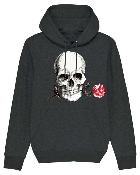 Bio Hoodie Rose Skull