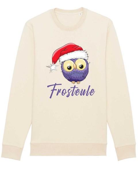 Unisex Bio Sweatshirt Weihnachts-Frosteule