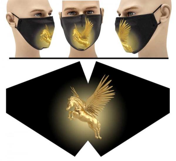 Goldenes Einhorn - Face Pad Premium - Mund Nasen Behelfsmaske