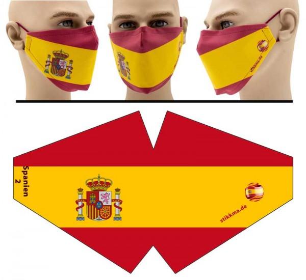 Spanien - Face Pad Premium - Mund Nasen Behelfsmaske
