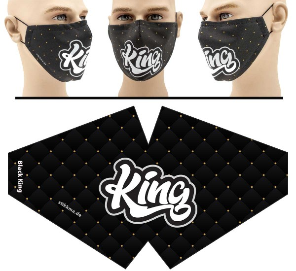 "Mund Nasen Behelfsmaske ""King"" Face Pad"