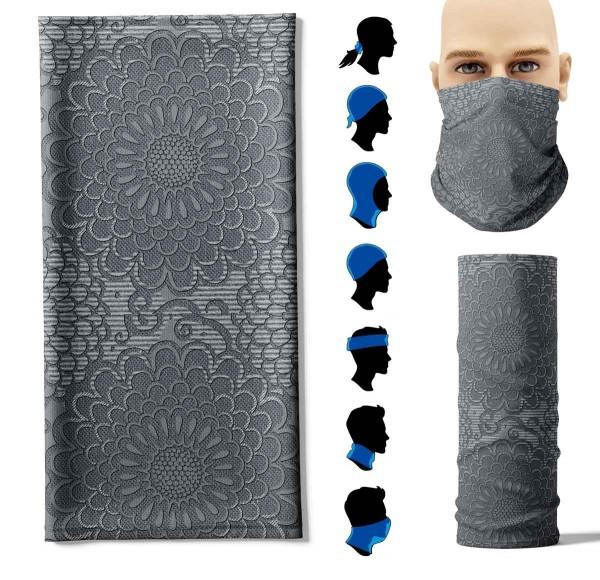 Multifunktionstuch Pattern Grau Face Pad+