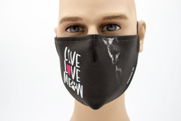 Live Love Meow - Face Pad Premium - Mund- Nasen. Behelfsmaske