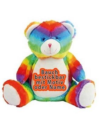 Kuscheltier Zippie Regenbogenbär 42cm