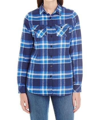 Women's Woven Plaid Flannel Shirt