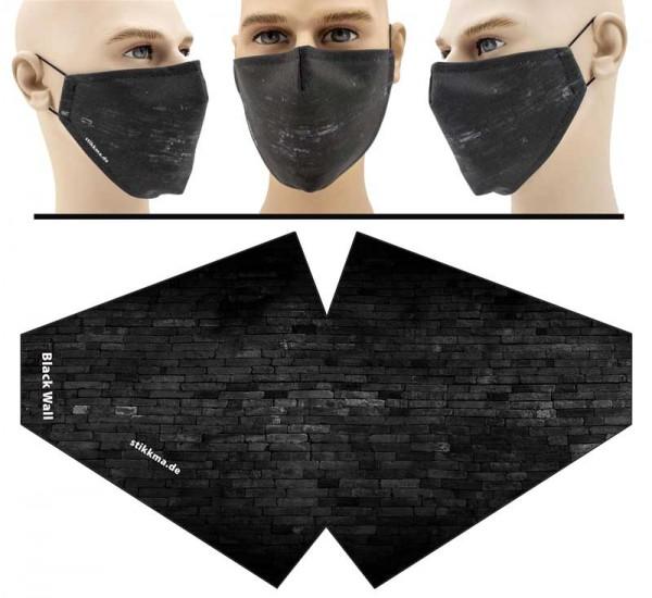 Black Wall - Face Pad Premium - Mund Nasen Behelfsmaske