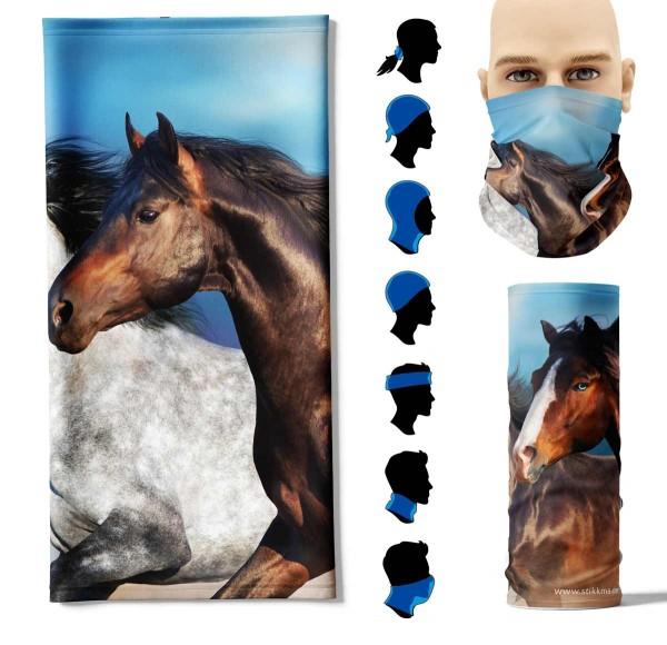 Multifunktionstuch laufende Pferde Face Pad+
