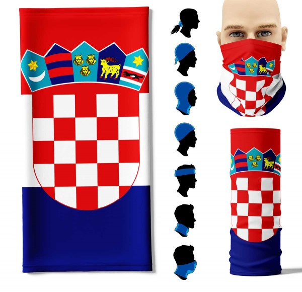 Multifunktionstuch Kroatien Face Pad+