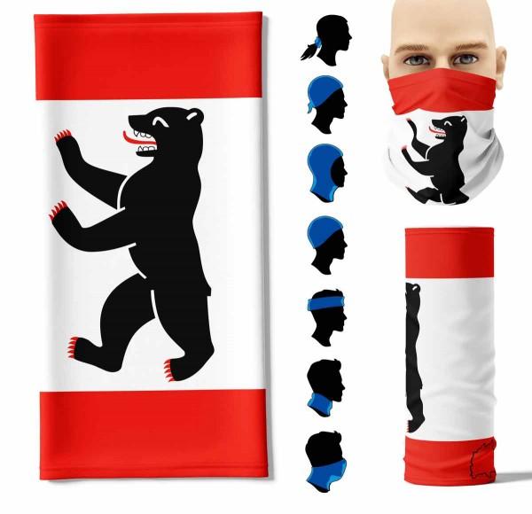 "Multifunktionstuch ""Berlin Flagge"" Face Pad+"