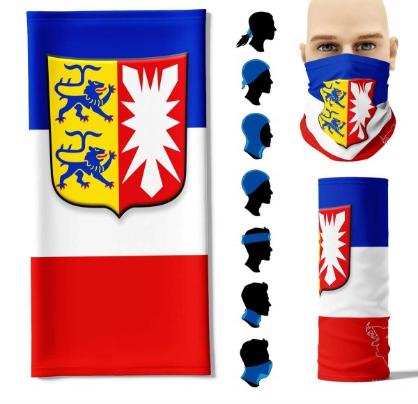 """Multifunktionstuch """"Schleswig-Holstein Flagge"""" Face Pad+"""