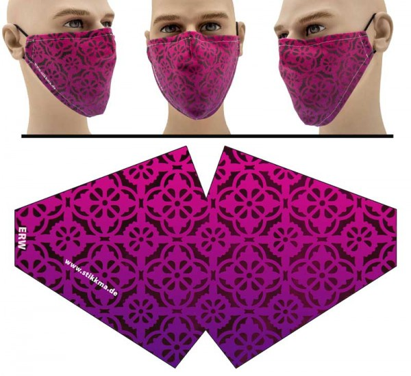 Arabesco Pink - Face Pad Premium - Mund Nasen Behelfsmaske