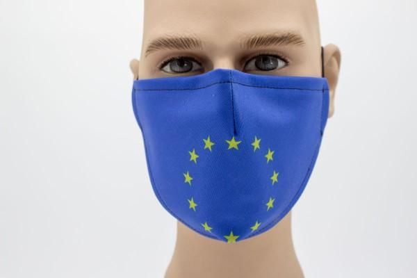 Gesichtsmaske Face Pad Europaflagge Mund- Nasen. Behelfsmaske