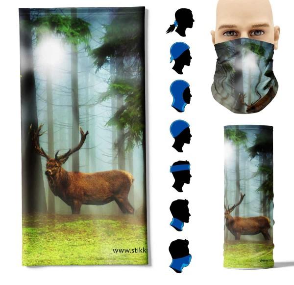 Multifunktionstuch Hirsch Wald Face Pad+