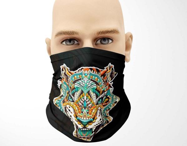 Multifunktionstuch Face Pad+ Tribal Tiger Mund- Nasen- Behelfsmaske Gesichtsmaske