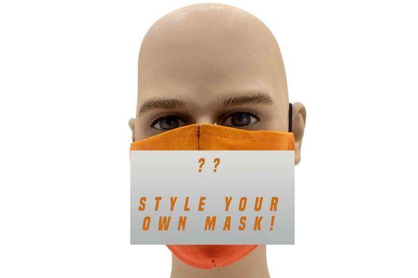 "Mund Nasen Behelfsmaske ""Style Your Own"" Face Pad"