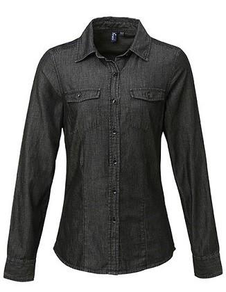 Bluse Ladies' Jeans Stitch Denim