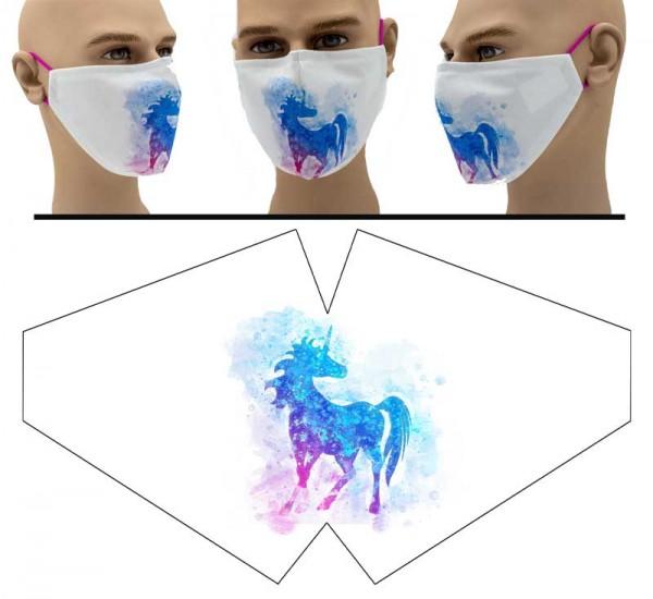 """Mund Nasen Behelfsmaske """"Einhorn Illustration"""" Face Pad"""