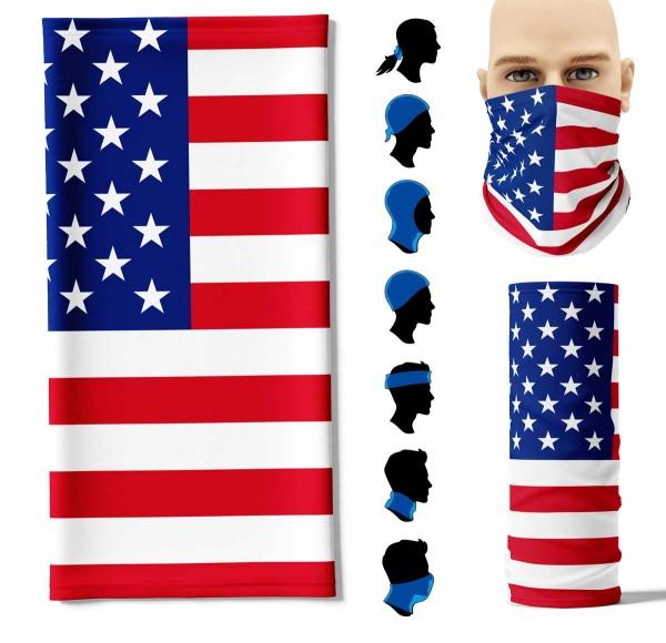 Multifunktionstuch USA Face Pad+