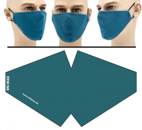 Blau - Face Pad Premium - Mund Nasen Behelfsmaske