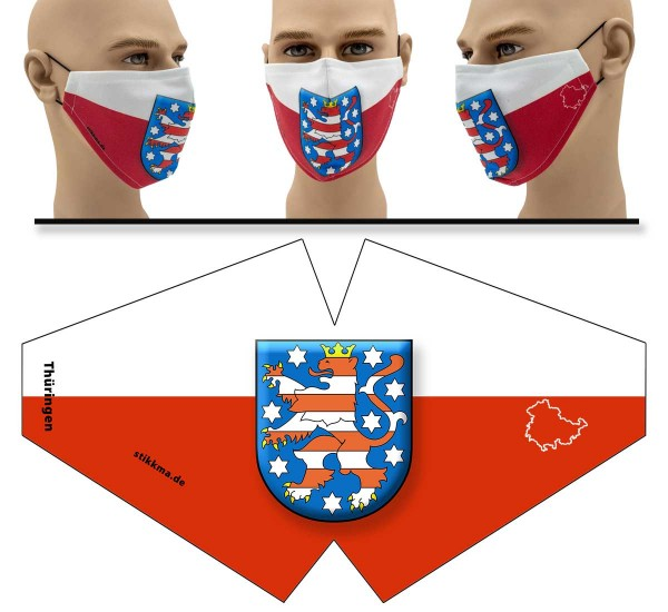 Thüringen - Face Pad Premium- Mund Nasen Behelfsmaske