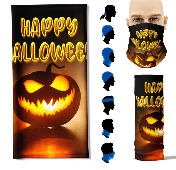 "Multifunktionstuch ""Happy Halloween"" Face Pad+-"