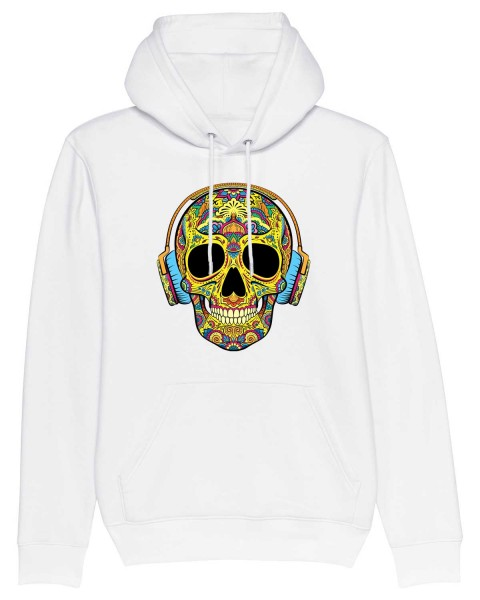 Bio Hoodie Kopfhörer Skull