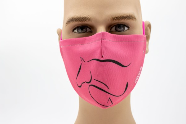 Pferdekontur - Face Pad Premium - Mund- Nasen. Behelfsmaske