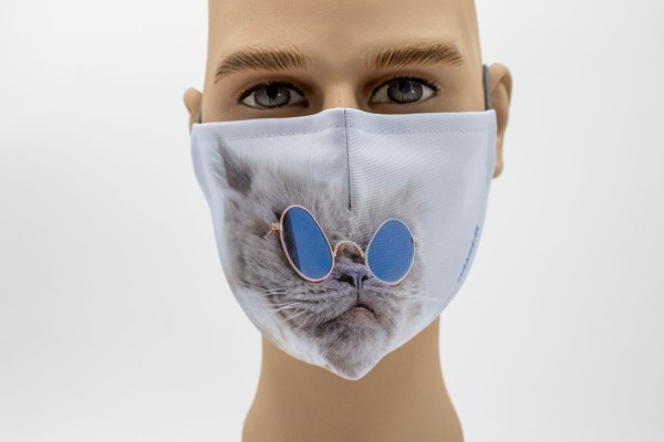 Sonnenbrillenkatze - Face Pad Premium - Mund- Nasen. Behelfsmaske