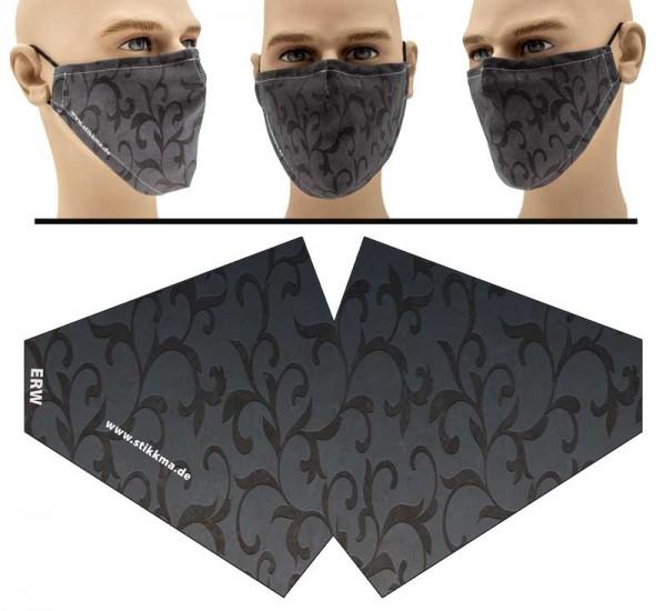 Marble Grau - Face Pad Premium - Mund Nasen Behelfsmaske