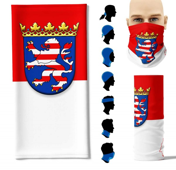 """Multifunktionstuch """"Hessen Flagge"""" Face Pad+-"""