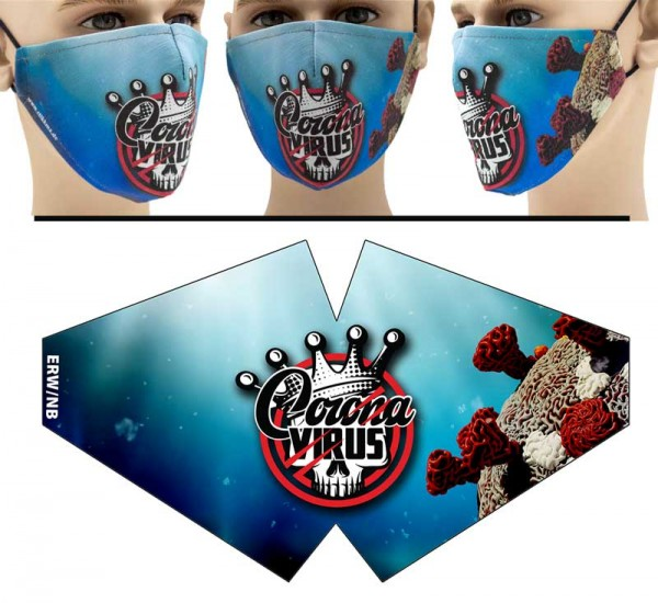 "Mund Nasen Behelfsmaske ""Totenkopf Virus"" Face Pad"