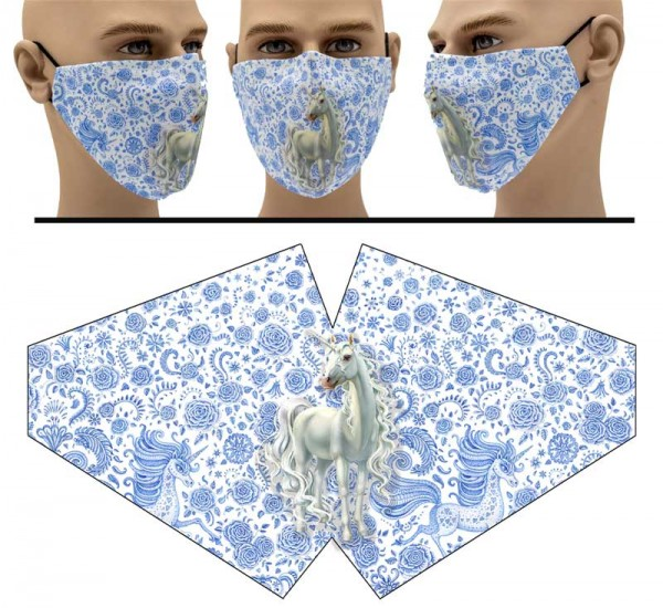 Einhorn - Face Pad Premium - Mund Nasen Behelfsmaske