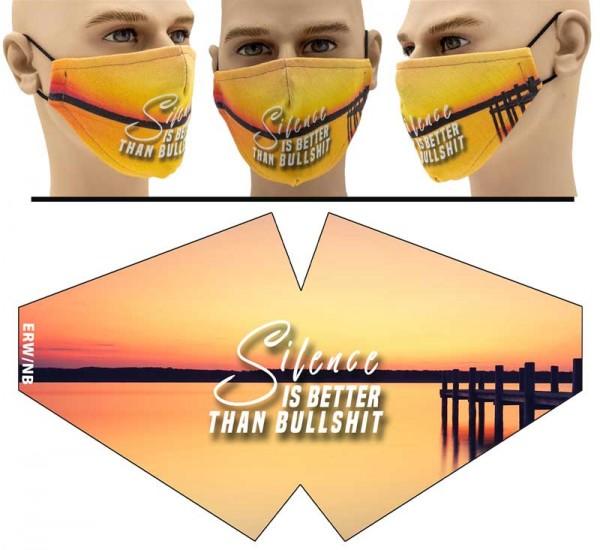 Silence is better - Face Pad Premium - Mund Nasen Behelfsmaske