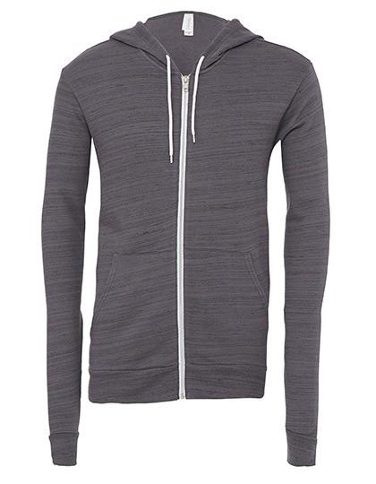 Hoody/Kapuzenjacke Unisex Zip-Up Poly-Cotton Fleece