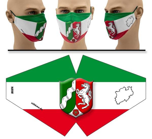 Nordrhein-Westfalen - Face Pad - Mund Nasen Behelfsmaske