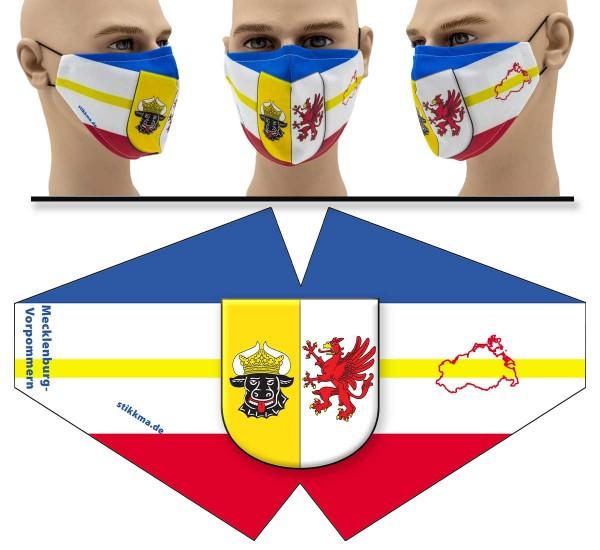 """Mund Nasen Behelfsmaske """"Mecklenburg-Vorpommern"""" Face Pad"""