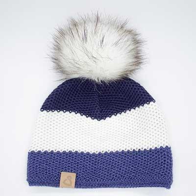 Wollmütze Frisco Blau gestreift