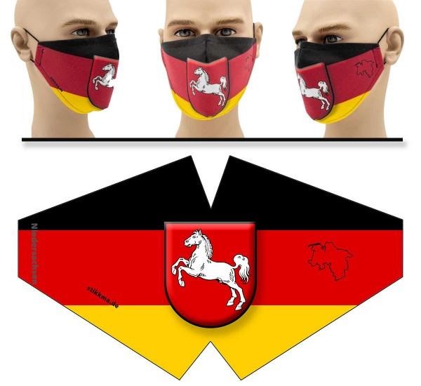 Niedersachsen - Face Pad - Mund Nasen Behelfsmaske