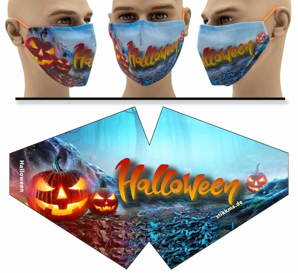 """Mund Nasen Behelfsmaske """"Halloween"""" Face Pad"""