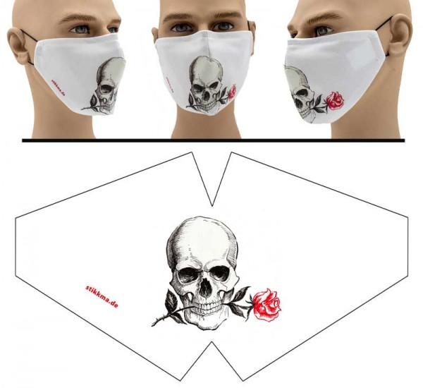 Totenkopf 2 - Face Pad Premium - Mund Nasen Behelfsmaske